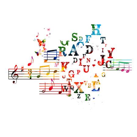 Colorful music background Çizim