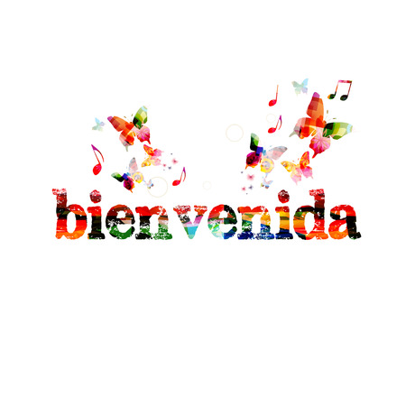 bienvenido: Bienvenida inscription Illustration