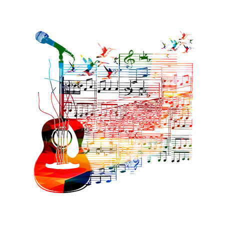 Colorful guitar background Illustration