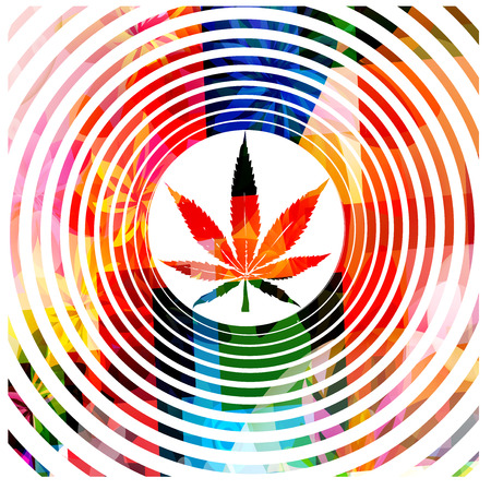 marijuana plant: Colorful marijuana design Illustration