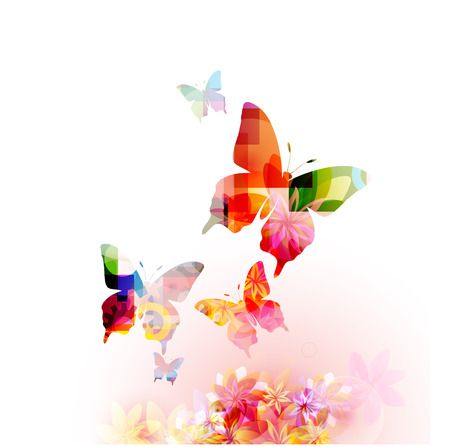 Butterfly background Illustration
