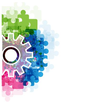 piezas de rompecabezas: Colorido vector abstracta backgroundVector