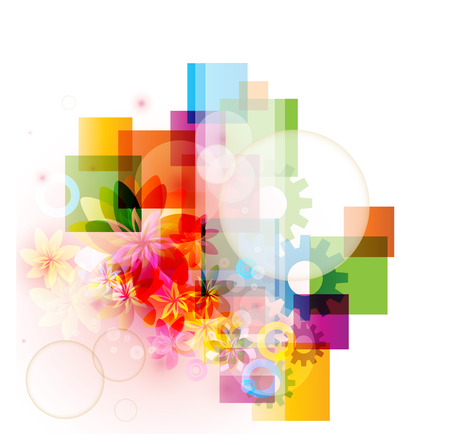 Abstract colorful vector background Illustration