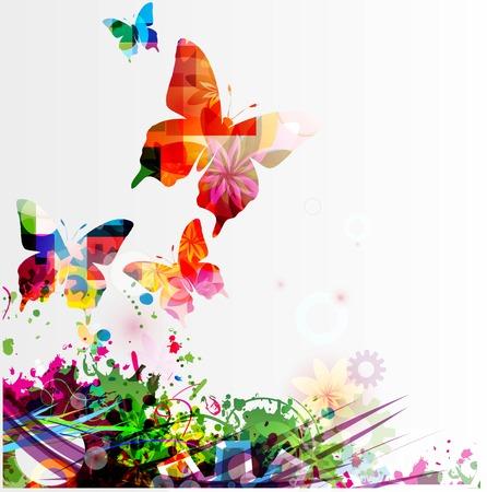 mariposa: Mariposa de fondo