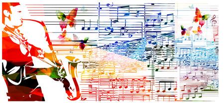 L'uomo che giocano sassofono. Musica di sottofondo