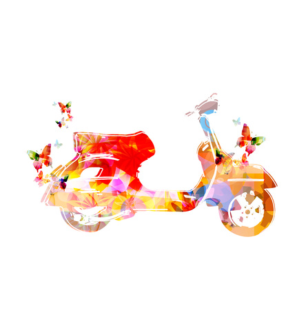 ornamented: Colorful bike with butterflies flower ornamented design