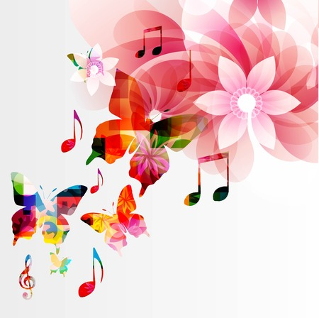 conservatory: Colorful music background Illustration