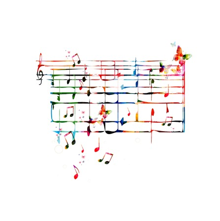 crotchets: Colorful musical background