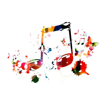 music instruments: Colorful music background Illustration