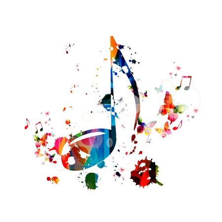 Colorful music background Vectores