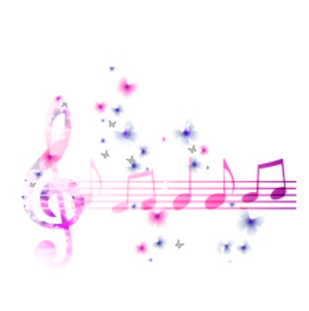 composer: Colorful music background. Vector