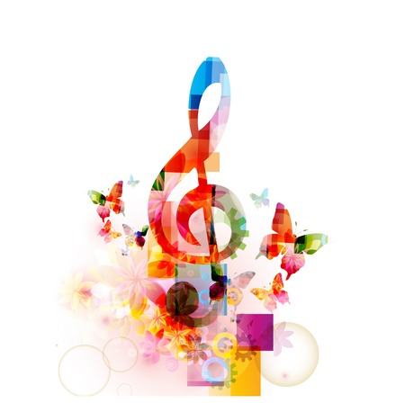 Colorful musical note background Фото со стока - 41638825