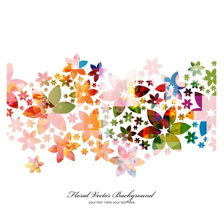 bright card: Stylish floral background. Vector Illustration