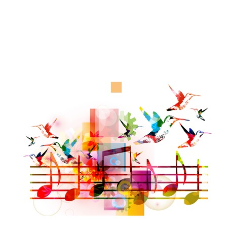 Abstract music background Illustration