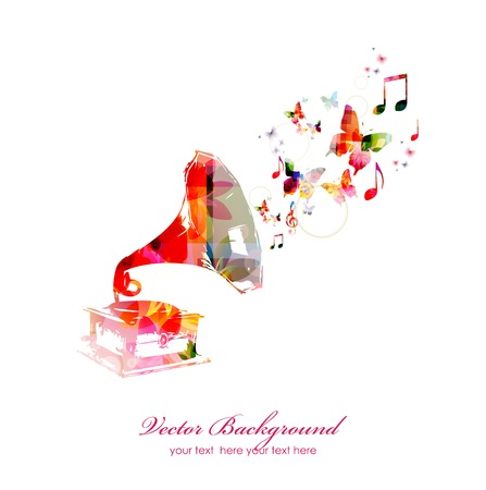 Colorful music background. Vector Stok Fotoğraf - 41638872