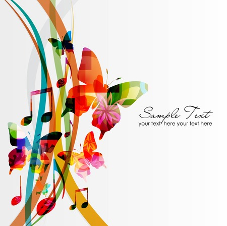 Colorful music background Stok Fotoğraf - 41638874