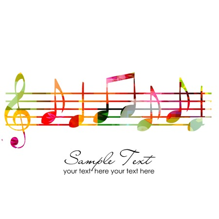 musica clasica: Fondo colorido de la m�sica Vectores