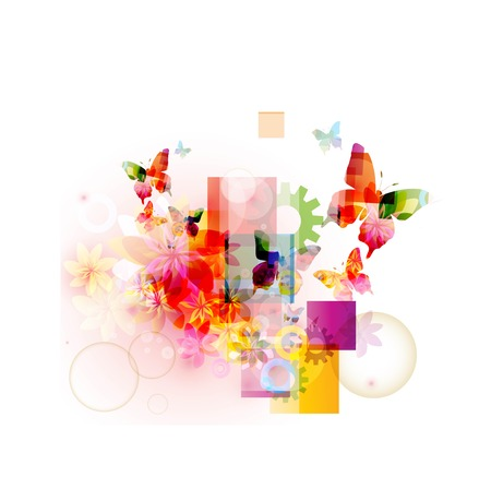 cog: Abstract colorful vector background Illustration