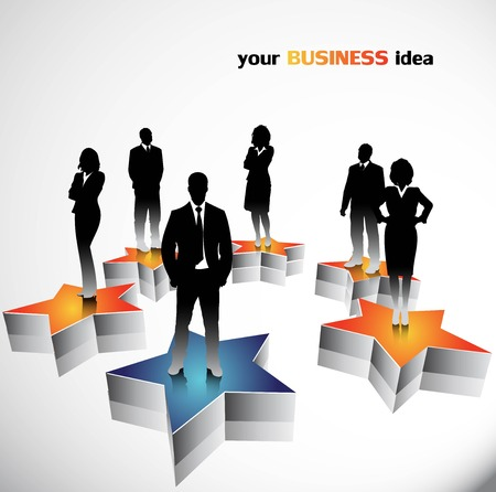 point: Business people background Illustration