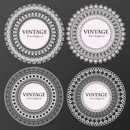 vintage lace: Vintage lace frames Illustration