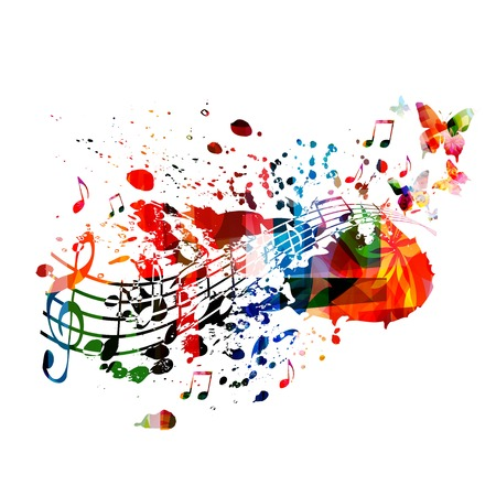 Colorful music background 矢量图像