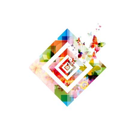 Vlinder achtergrond vector Stock Illustratie