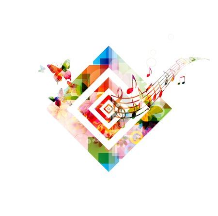 Colorful music background  イラスト・ベクター素材