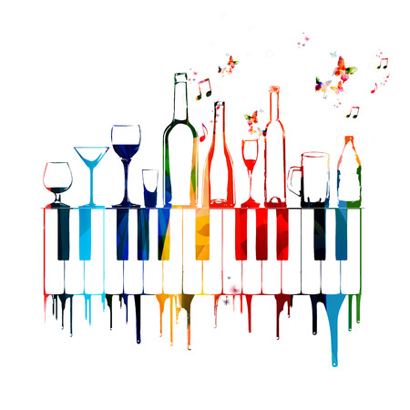 音楽とリラクゼーションのコンセプト  イラスト・ベクター素材