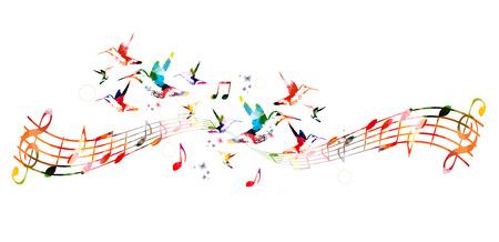 Fond coloré avec des notes de musique Banque d'images - 43850230