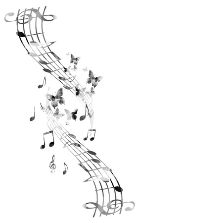 Music notes background Stock Vector - 43850251