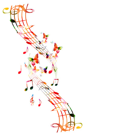 decorative design: Music notes background