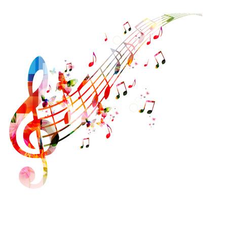 musico: Fondo de notas de música  Vectores