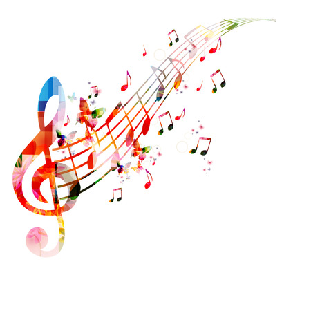 karaoke: Music notes background