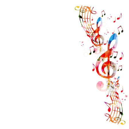 armonía: Fondo de notas de música  Vectores