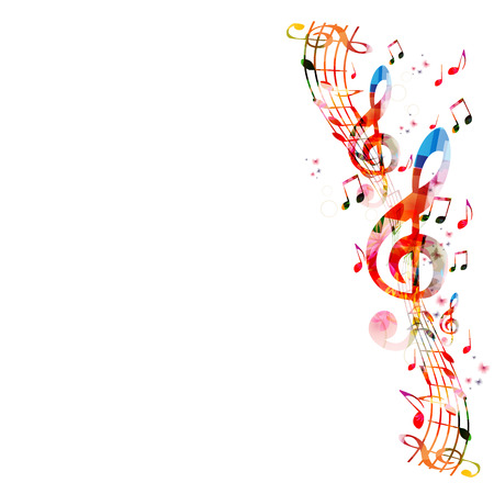 musical notes background: Music notes background
