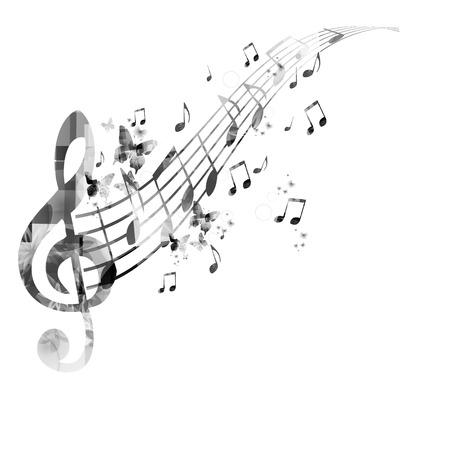 音楽ノートの背景  イラスト・ベクター素材