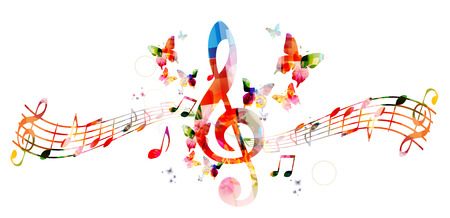 celebration background: Colorful background with music notes