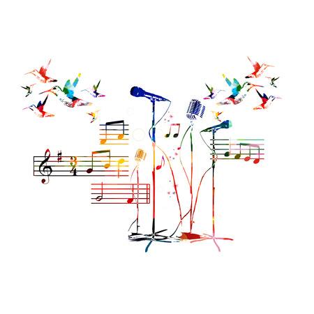 company background: Sfondo colorato di musica. Vettore Vettoriali