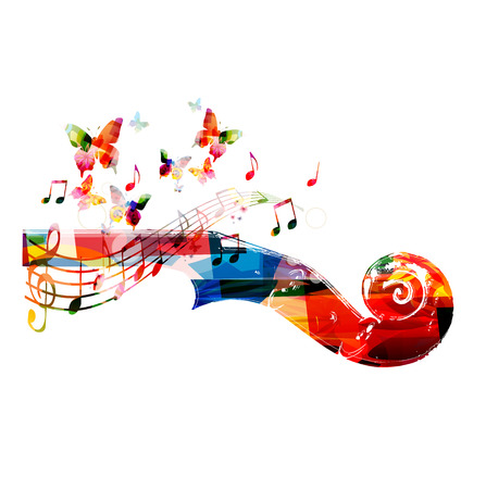 Colorful violoncello pegbox with butterflies Фото со стока - 44337768