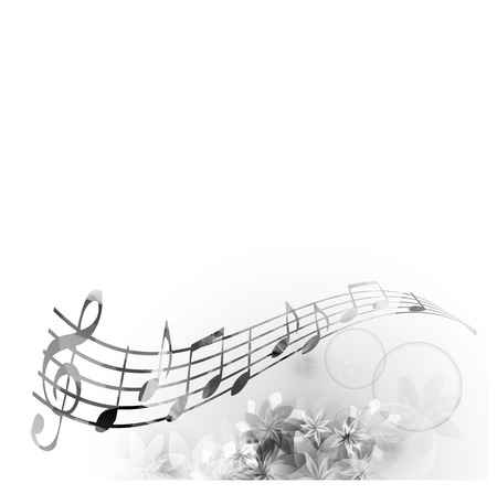 crotchets: Music notes background