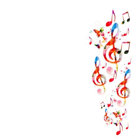 Fond coloré avec des notes de musique Banque d'images - 44685349