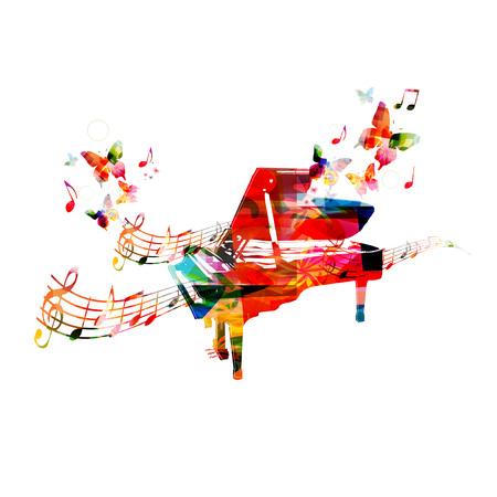 Progettazione pianoforte colorato. Musica di sottofondo Archivio Fotografico - 44685350
