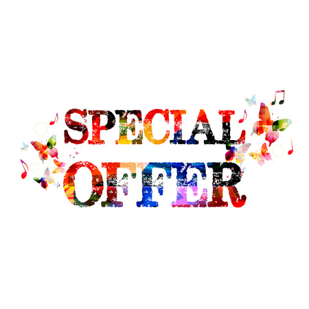 Colorful Special Offer inscription