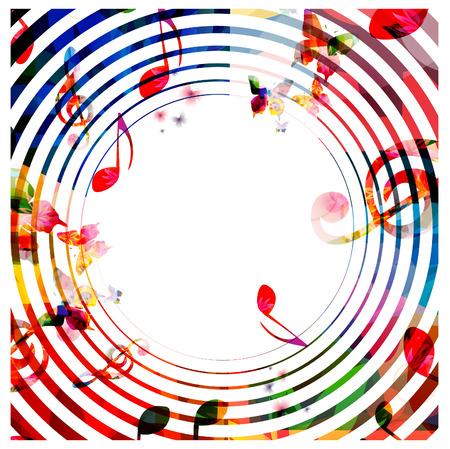Kleurrijke achtergrond muziek noten Stockfoto - 46047163