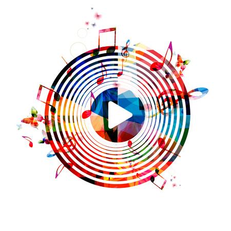 Kleurrijke achtergrond muziek noten