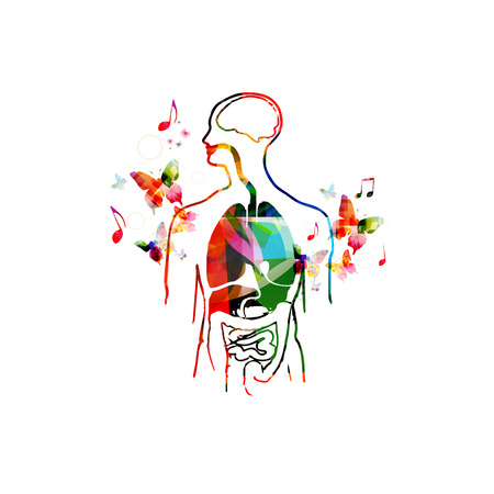 gall bladder: Colorful human organs design