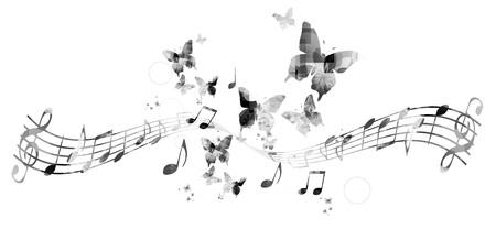 Arrière-plan de notes de musique Banque d'images - 47284242