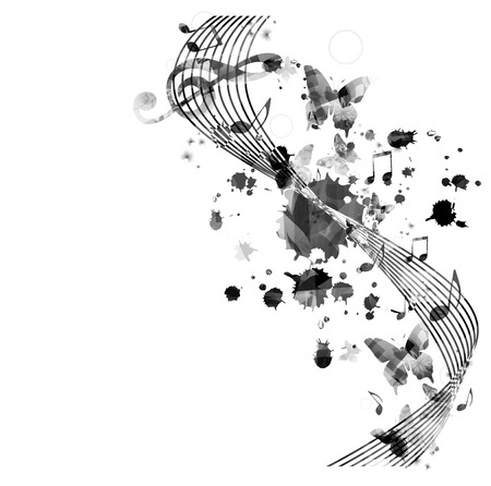 music stave: Music notes background
