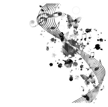 Music notes background Reklamní fotografie - 47923179