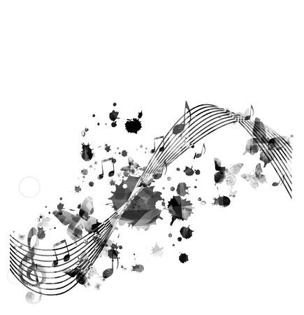 armonia: Fondo de notas de música  Vectores